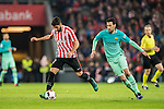 Raul Garcia (l) of Athletic Club in action during their Copa del Rey Round of 16 first leg match between Athletic Club and FC Barcelona at San Mames Stadium on 05 January 2017 in Bilbao, Spain. Photo by Victor Fraile / Power Sport Images