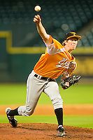 Tennessee Volunteers relief pitcher Conner Stevens #35 in action against the Houston Cougars at Minute Maid Park on March 2, 2012 in Houston, Texas.  The Cougars defeated the Volunteers 7-4.  (Brian Westerholt/Four Seam Images)