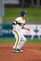 Michigan Wolverines left fielder Matt Ramsay (46) leads off second base during the first game of a doubleheader against the Canisius College Golden Griffins on June 20, 2016 at Tradition Field in St. Lucie, Florida.  Michigan defeated Canisius 6-2.  (Mike Janes/Four Seam Images)