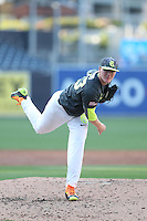 Drake Fellows (23) of the West team pitches during the 2015 Perfect Game All-American Classic at Petco Park on August 16, 2015 in San Diego, California. The East squad defeated the West, 3-1. (Larry Goren/Four Seam Images)