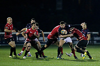 Bobby Beattie of London Scottish in action during the Greene King IPA Championship match between London Scottish Football Club and Cornish Pirates at Richmond Athletic Ground, Richmond, United Kingdom on 15 November 2019. Photo by Carlton Myrie.