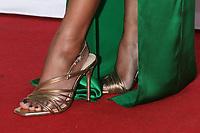 LOS ANGELES - JUN 13:  Rachel Lindsay shoe detail at the 48th Daytime Emmy Awards Press Line - June 13 at the ATI Studios on June 13, 2021 in Burbank, CA