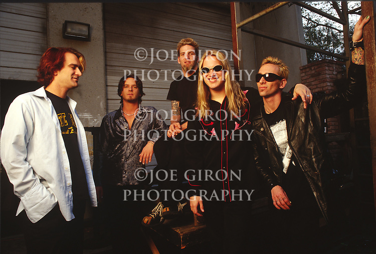 Various portrait sessions of the rock band, Candlebox