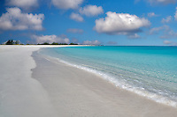 Beach at Half Moon Bay. Turks and Caicos. Providenciales.