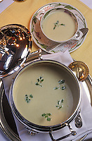 Europe/France/Auvergne/03/Allier/Vichy: soupe vichyssoise à la brasserie du casino