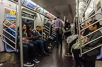 America,New York,  Manhattan, subway