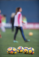 San Diego, Ca - Sunday, January 21, 2018: Nike Balls during a USWNT 5-1 victory over Denmark at SDCCU Stadium.