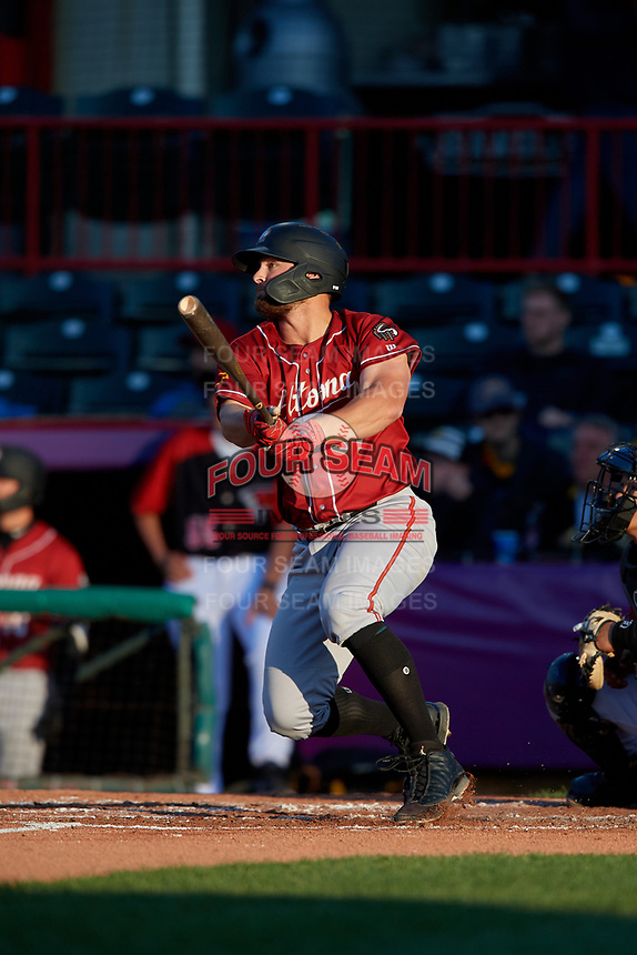 Altoona Curve Jerrick Suiter (31) at bat during an Eastern League game against the Erie SeaWolves on June 3, 2019 at UPMC Park in Erie, Pennsylvania.  Altoona defeated Erie 9-8.  (Mike Janes/Four Seam Images)
