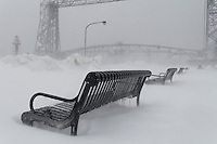 An early April blizzard during a record-breaking winter in Duluth.