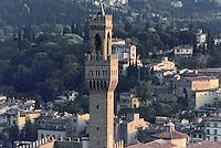 - Florence, Town panorama with the tower of Palazzo Vecchio....- Firenze, panorama della città con la torre di Palazzo Vecchio