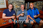 Enjoying their drinks at the reopening of indoor hospitality at Castle bar on Monday, l to r: Eamon Griffin, Dominic Foley and Gearoid O'Sullivan.