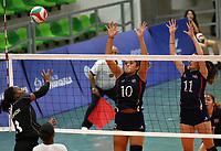 BARRANQUILLA - COLOMBIA, 22-07-2018:Trinidad y Tobago vs Costa Rica ,Voleibol  femenino .Juegos Centroamericanos y del Caribe Barranquilla 2018. / Trinidad and Tobago vs Costa Rica, women's volleyball of the Central American and Caribbean Sports Games Barranquilla 2018. Photo: VizzorImage /  Contribuidor