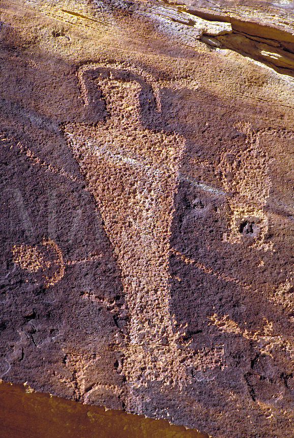 Fremont Indian rock art, Petroglyphs. Utah USA Nine-Mile Canyon.