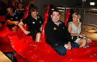 Photo: Richard Lane/Richard Lane Photography. London Wasps in Abu Dhabi for their LV= Cup game against Harlequins on 30st January 2011. 27/01/2011. Steve Hayes on the fastest rollercoaster in the world at Ferrari World Abu Dhabi.