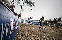 teammates Tom Meeusen (BEL/Telenet-Fidea) & Toon Aerts (BEL/Telenet-Fidea) leading the race together early on<br /> <br /> elite men's race<br /> GP Sven Nys 2017