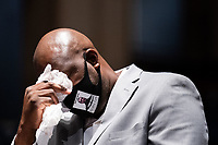 Philonise Floyd, George Floyd's brother, tears up while testifying during a United States House Judiciary Committee at a hearing on police accountability on Capitol Hill in Washington, DC on June 10, 2020. <br /> Credit: Erin Schaff / Pool via CNP/AdMedia
