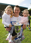 St Johnstone v Morton....02.05.09.Martin Hardie with his daughters Megan and Eva and the first division trophy.Picture by Graeme Hart..Copyright Perthshire Picture Agency.Tel: 01738 623350  Mobile: 07990 594431