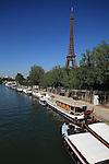 River Seine with Eiffel Tower La tour eiffel in the background. City of Paris. Paris. France