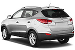 Rear three quarter view of a 2012 Hyundai Tucson GLS SUV