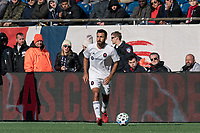 FOXBOROUGH, MA - MARCH 7: Jonathan Bornstein #3 of Chicago Fire looks to pass during a game between Chicago Fire and New England Revolution at Gillette Stadium on March 7, 2020 in Foxborough, Massachusetts.