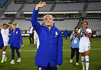 JACKSONVILLE, FL - NOVEMBER 10: Becky Sauerbrunn #4 of the United States celebrates during a game between Costa Rica and USWNT at TIAA Bank Field on November 10, 2019 in Jacksonville, Florida.