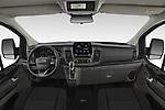 Stock photo of straight dashboard view of 2020 Ford Transit-Custom Nugget 4 Door Camper Van Dashboard