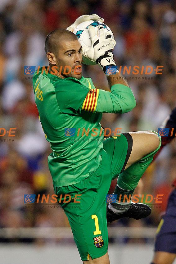 FC Barcelona's Victor Valdes during La Liga match.September 1,2013. (ALTERPHOTOS/Acero) <br /> Football Calcio 2013/2014<br /> La Liga Spagna<br /> Foto Alterphotos / Insidefoto <br /> ITALY ONLY