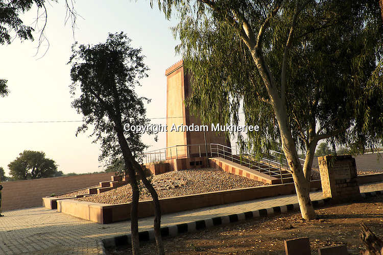 Cenotaph of 363  Bishnoi Martyars at Khejarli village, who laied down their lives to protect trees from cutting by the king's men in 1730.Jodhpur, Rajasthan, India. Arindam Mukherjee