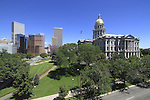 Colorado State Capitol and downtown Denver, Colorado, USA. .  John offers private photo tours in Denver, Boulder and throughout Colorado. Year-round Colorado photo tours.