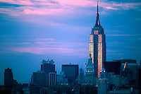 "JP0033 ""Empire State Building (Orange Stripes) #1 - New York NY"