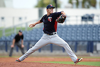 Minnesota Twins pitcher Dereck Rodriguez (31) during an Instructional League game against the Tampa Bay Rays on September 16, 2014 at Charlotte Sports Park in Port Charlotte, Florida.  (Mike Janes/Four Seam Images)
