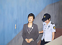 Park Geun-hye, Lee Jae-Yong and Choi Soon-Sil arrive at court before trial
