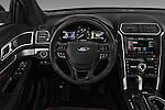 Car pictures of steering wheel view of a 2017 Ford Explorer Sport 5 Door Suv Steering Wheel