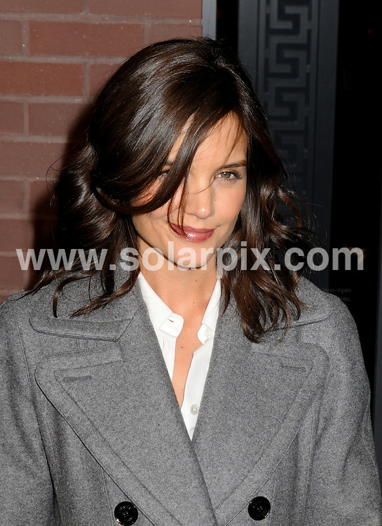 **ALL ROUND PICTURES FROM SOLARPIX.COM**.**SYNDICATION RIGHTS FOR UK, AUSTRALIA, DENMARK, PORTUGAL, S. AFRICA, SPAIN & DUBAI (U.A.E) ONLY**.Hermes Men's Store Opening on Madison Avenue in New York, New York City. USA. 9 February 2010..This pic: Katie Holmes..JOB REF: 10654 PHZ Mayer   DATE: 09_02_2010.**MUST CREDIT SOLARPIX.COM OR DOUBLE FEE WILL BE CHARGED**.**MUST NOTIFY SOLARPIX OF ONLINE USAGE**.**CALL US ON: +34 952 811 768 or LOW RATE FROM UK 0844 617 7637**