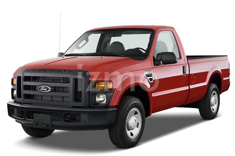 Front three quarter view of a 2008 Ford f250 Regular Cab.