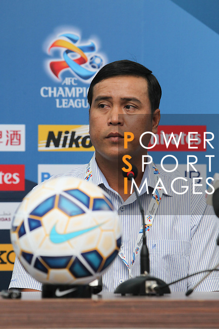 Head coach and player of the Binh Duong attends the press conference prior to the  Binh Duong vs Jeonbuk Hyundai Motors match during the 2015 AFC Champions League Group E match on April 07, 2015 at the Binh Duong Stadium in Thu Dau Mot City, Vietnam. Photo by Hoang Hung / World Sport Group