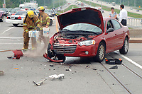 Car accident near Montreal,