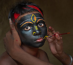 Tribal face paints of Bangal by Happy Mukherjee