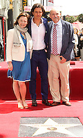 HOLLYWOOD, LOS ANGELES, CA, USA - APRIL 02: Samantha Bloom, Orlando Bloom, Colin Stone at Orlando Bloom's star ceremony on the Hollywood Walk of Fame (2,521st star) in the category of Motion Pictures held at 6927 Hollywood Boulevard (next to TCL Chinese Theatre and Madame Tussauds Hollywood) on April 2, 2014 in Hollywood, Los Angeles, California, United States. (Photo by Celebrity Monitor)