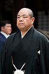 Hakkaku, <br /> APRIL 17, 2017 - Sumo : Yasukuni Shrine Honozumo is a ceremonial annual sumo tournament held in the precincts of the Yasukuni Shrine in Tokyo, Japan. (Photo by Yohei Osada/AFLO SPORT)