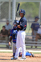 Minnesota Twins outfielder Dereck Rodriguez #58 during an Instructional League game against the New York Mets at Lee County Sports Complex on October 4, 2011 in Fort Myers, Florida.  (Mike Janes/Four Seam Images)
