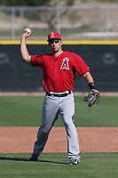 Alex Yarbrough #81 of the Los Angeles Angels during a Minor League Spring Training Game against the Chicago Cubs at the Los Angeles Angels Spring Training Complex on March 23, 2014 in Tempe, Arizona. (Larry Goren/Four Seam Images)