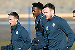 St Johnstone Training…02.02.18<br />New signing Matty Willock pictured in training this morning alongside Chris Millar and Keith Watson at McDiarmid Park ahead of tomorrow's game at Hearts<br />Picture by Graeme Hart.<br />Copyright Perthshire Picture Agency<br />Tel: 01738 623350  Mobile: 07990 594431