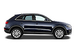 Passenger side profile view of a 2012 Audi Q3 SUV .