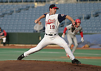 May 5, 2004:  /sp/ David Bush (19) of the Syracuse Sky Chiefs, Class-AAA International League affiliate of the Toronto Blue Jays, during a game at P&C Park in Syracuse, NY.  Photo by:  Mike Janes/Four Seam Images
