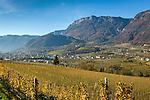 Italy, Alto Adige-Trentino, South Tyrol, Appiano sulla Strada del Vino, district San Michele, at Wine Route | Italien, Suedtirol, Alto Adige-Trentino, Eppan-St. Michael an der Weinstrasse: Uebersicht