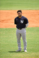 New York Yankees Jasson Dominguez (25) during an Extended Spring Training game against the Detroit Tigers on June 19, 2021 at the Joker Marchant Stadium in Lakeland, Florida.  (Mike Janes/Four Seam Images)