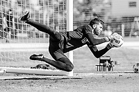 BRADENTON, FL - JANUARY 21: Matt Turner makes the save during a training session at IMG Academy on January 21, 2021 in Bradenton, Florida.