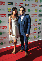 19/05/2015 <br />  Rachel Tracey & Johnny Ward <br /> during the Irish mirror pride of Ireland awards at the mansion house, Dublin.<br /> Photo: gareth chaney Collins