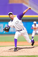 Relief pitcher Santos Rodriguez #27 of the Winston-Salem Dash in action against the Wilmington Blue Rocks at BB&T Ballpark on April 24, 2011 in Winston-Salem, North Carolina.   Photo by Brian Westerholt / Four Seam Images
